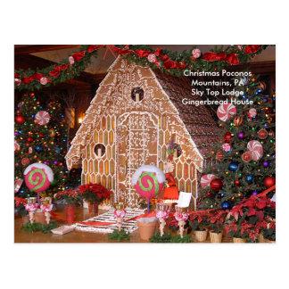 Christmas Poconos Mountains, PA Sky Top Lodge Postcard