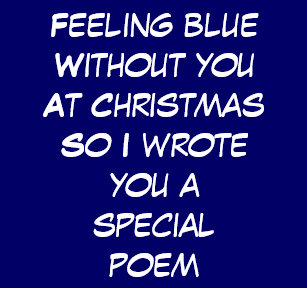 christmas poem for blue without you holiday card - Who Wrote Blue Christmas