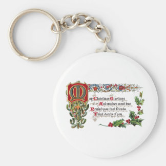 Christmas Poem for Friends Keychain