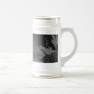 Christmas Poinsettia Black And Grey IV Beer Stein
