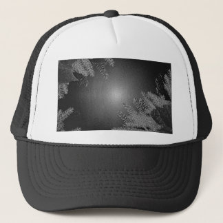 Christmas Poinsettia Black And Grey Trucker Hat