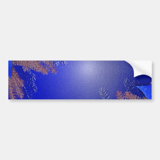 Christmas Poinsettia Blue I Bumper Sticker
