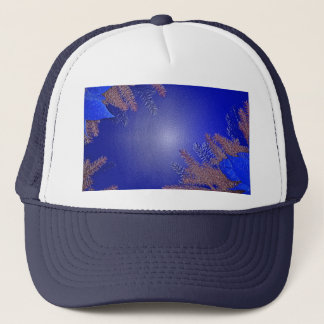 Christmas Poinsettia Blue I Trucker Hat
