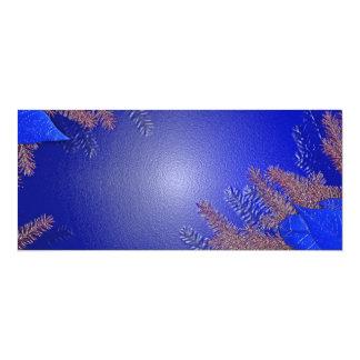 Christmas Poinsettia Blue II Announcements