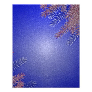 Christmas Poinsettia Blue II Flyer