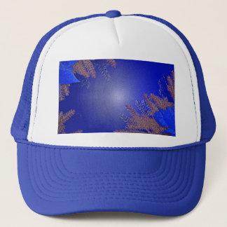 Christmas Poinsettia Blue III Trucker Hat