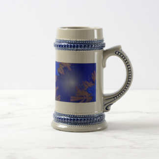 Christmas Poinsettia Blue IV Beer Stein