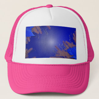 Christmas Poinsettia Blue IV Trucker Hat