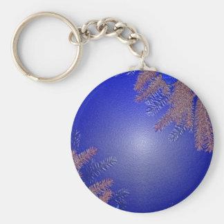 Christmas Poinsettia Blue Key Chain