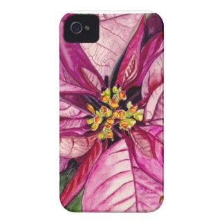 Christmas Poinsettia iPhone 4 Case-Mate Case