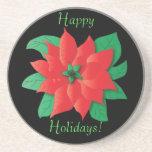 Christmas Poinsettia Coaster