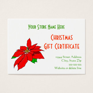 Christmas Poinsettia Compnany Gift Certificate