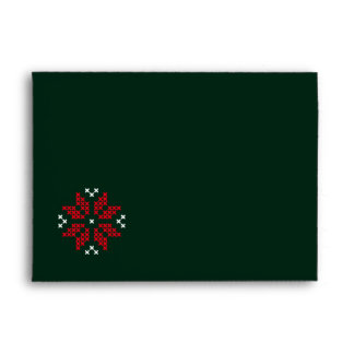 Christmas Poinsettia Cross-stitch envelope