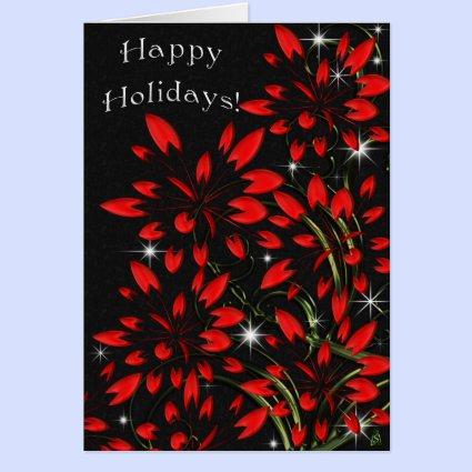 Christmas Poinsettia Fireworks (card)