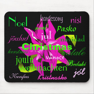 Christmas Poinsettia In Pink From Around The World Mouse Pad