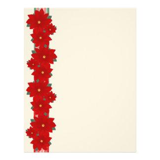 Christmas Poinsettia Letterhead
