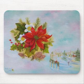 """Christmas Poinsettia"" Mousepad"
