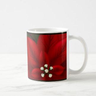 Christmas Poinsettia Mug