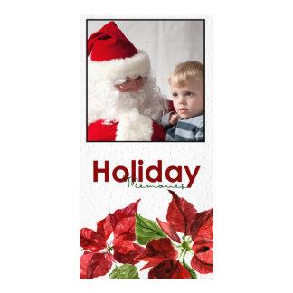 Christmas Poinsettia Photo Card