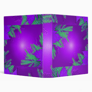 Christmas Poinsettia Purple And Green Binder