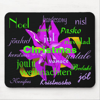 Christmas Poinsettia Purple From Around The World Mouse Pad