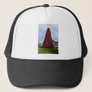 Christmas Poinsettia Tree in San Diego Trucker Hat