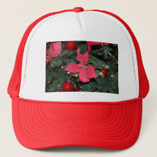 Christmas Poinsettia Trucker Hat