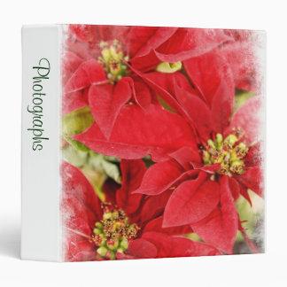 """Christmas Poinsettias 1.5"""" Photo Album Binder"""