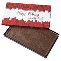 Christmas Poinsettias Milk Chocolate Bar