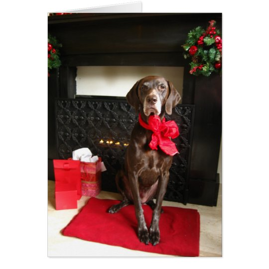 christmas pointer card