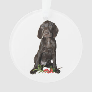Christmas Pointer Sister Puppy Ornament