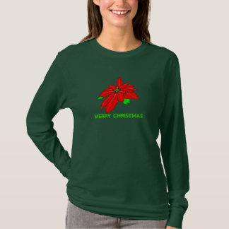 Christmas Pointsetta Long Sleeved Shirt