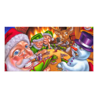 christmas poker picture card