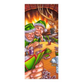 christmas poker rack card