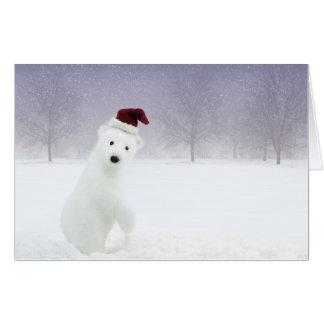 Christmas Polar Bear (24x36) Big Card
