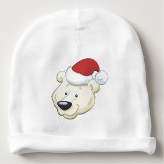 Christmas Polar Bear Baby Beanie