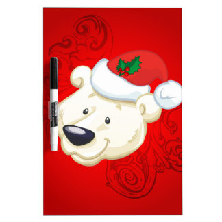 Christmas polar bear dry erase whiteboards