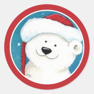 Christmas Polar Bear Envelope Seal Stickers