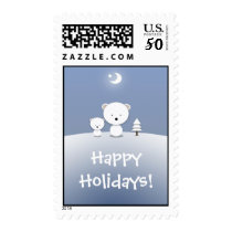 Christmas Polar Bear Kawaii Postage Stamps