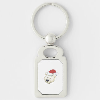 Christmas Polar Bear Keychain