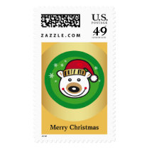 Christmas Polar Bear - Merry Christmas Postage