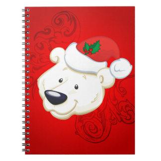 Christmas polar bear notebooks