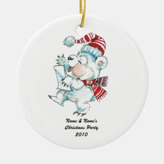 Christmas Polar Bear Ornament - Thank You