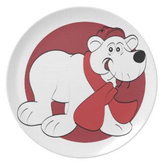 Christmas Polar Bear Plate