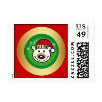 Christmas Polar Bear Postage