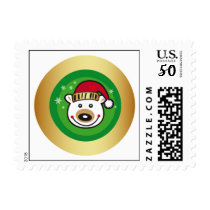 Christmas Polar Bear Postage