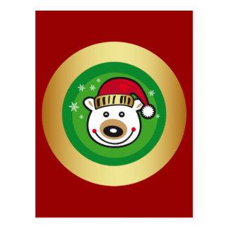 Christmas Polar Bear Postcard
