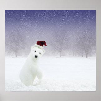 Christmas Polar Bear Poster