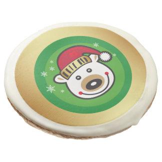 Christmas Polar Bear Sugar Cookie