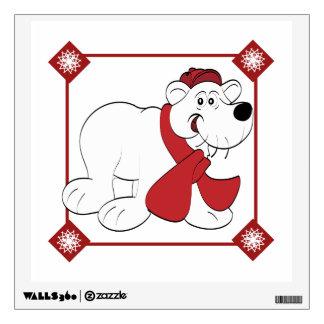 Christmas Polar Bear Wall Decal